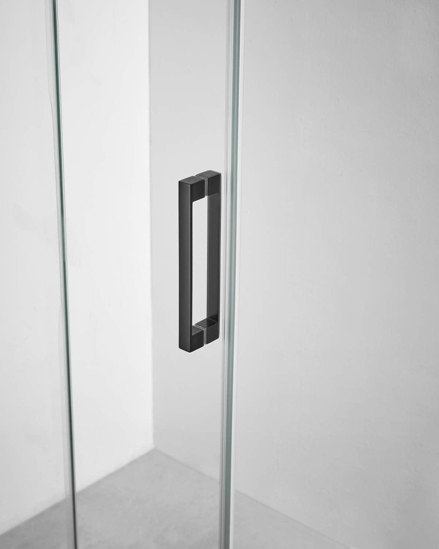 Mampara de Ducha - GME - Basic Black Frontal - 1 Hoja Fija + 1 Hoja Corredera (130-135 cm): Amazon.es: Bricolaje y herramientas