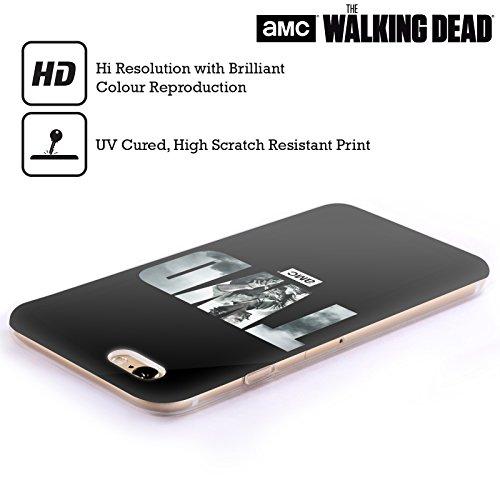 Officiel AMC The Walking Dead Portrait Logo Étui Coque en Gel molle pour Apple iPhone 6 / 6s