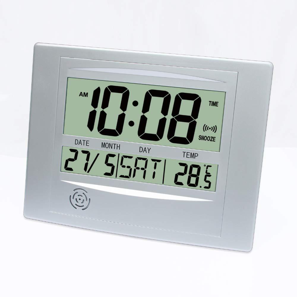 XIANGHUi Sencillo Reloj de Mesa LCD Digital de Pared Reloj ...