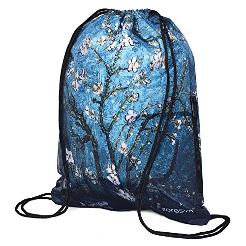 Waterproof Drawstring Bag Sport Gym Runner Knapsack Lightweight Sackpack Backpack for Men and Women