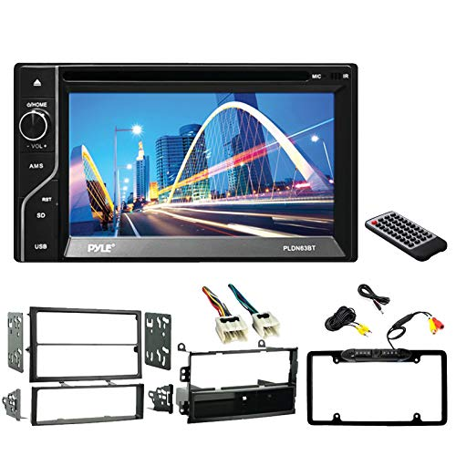 Pyle PLDN63BT 6.5'' Display Double-DIN Bluetooth Receiver, Metra 99-7402 Dash Kit for 2003-2005 Nissan 350Z, Metra Wiring Harness, Enrock Car Rearview Waterproof Camera