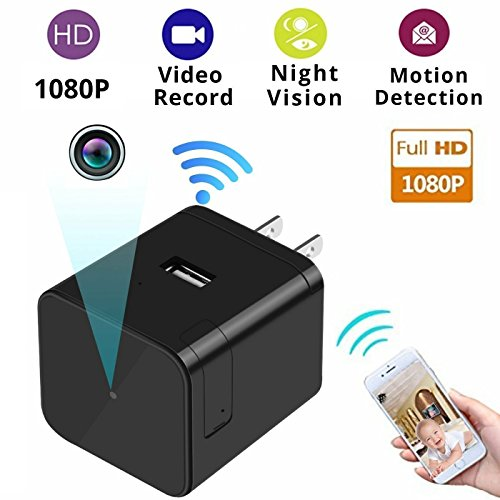 NEW Home Security Cameras Wifi Nanny Cam Pet Baby Office Monitoring Nursing Cam Night Vision Camera with Motion Detector Wireless Ip Camera System Best Mini Cameras Wifi Usb Wall Charger Camera (Network Wireless Detector)