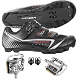 Venzo Mountain Bike Bicycle Cycling Shimano SPD Shoes with Pedals Size 41
