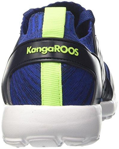 KangaROOS W-481 Kids S, Zapatillas Unisex Niños Blau (Dk Navy/Lime)