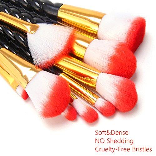 14PCS Makeup Brushes Set, MYSWEETY Unicorn Makeup Brushes 2017 10Pcs Makeup Brushes + 2Pcs Silicone Makeup Sponge + 1pc Makeup Brush Egg + 1pc Makeup Brush Bag