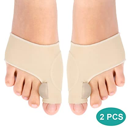 Gel para corrector de juanetes con almohadilla, 1 par de alisadores del dedo del pie Separador de dedo gordo Protectores ...