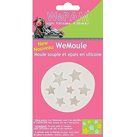 Cleopatre WeMoule - Molde de silicona para moldar varias estrellas con porcelana fría: Amazon.es: Oficina y papelería