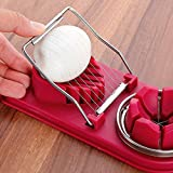 Egg Slicer Cutter, Stainless Steel Egg Separator Egg Slicer Tools Egg Extractor for 2 Slicing Styles Dual Egg Dicer…