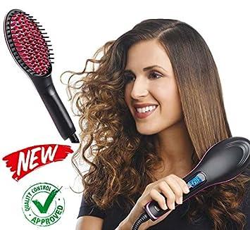 EuroQuality Cepillo alisador de pelo - AsaVea cepillo alisador de cabello - #1 el desenredante de cerámica caliente más seguro y rápido , con un diseño ...