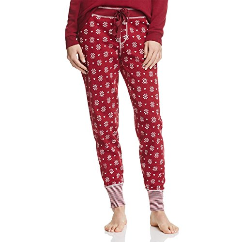 PJ Salvage Womens Thermal Holiday Sleep Pant Red (Salvage Thermal)