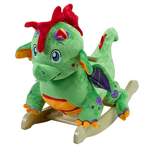 - Poof The Lil' Dragon Rocker | Horse Plush Butterfly Baby Toy with Wooden Rocking Chiar Horse/Kid Rocking Toy/Baby Rocking Horse/Rocker/Animal Ride