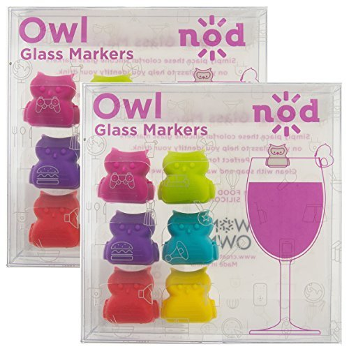 Set of 12 Silicone Wine Glasses Charms Assorted Rim Cocktail Markers Party Birds Party Supplies Drink Accessories