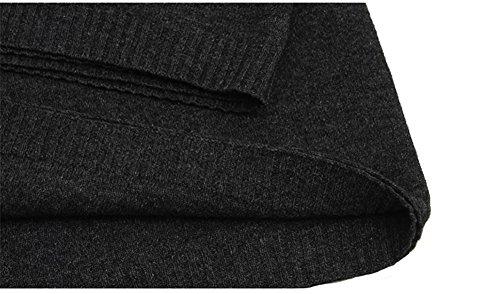 s Bufanda oscuro de lana gris de mujer para color Aiklin bufanda Tejer RFRTPq