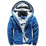 FANOUD Mens Hoodie Eager Printed Warm Fleece Zipper Sweater Outwear Coat Tops