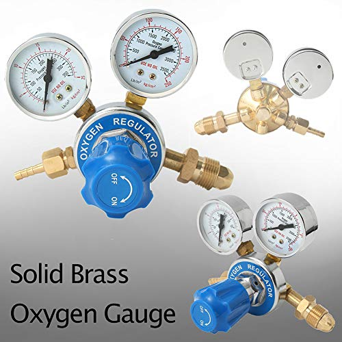 014 Gauge - putdWH99 Tool | FH-014-62 G5/8 Thread Oxygen Regulator Welding Mig Gas Gauge Cutting Flow Meter