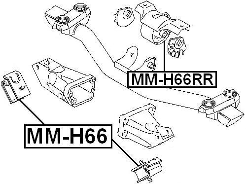 Mr319769 Febest Mitsubishi Front Engine Mount Oem