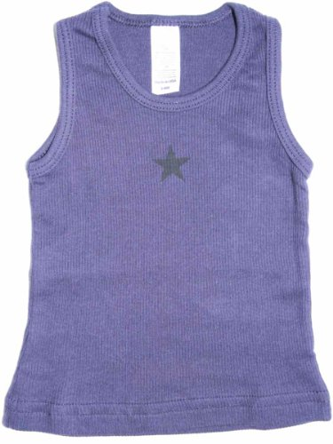YogaColors Modern Vintage Star Infant Ribbed Tank Top (6-12 Months, (Toddler Girls Ribbed Sleeveless Top)
