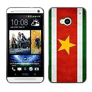 YOYO Slim PC / Aluminium Case Cover Armor Shell Portection //Suriname Grunge Flag //HTC One M7