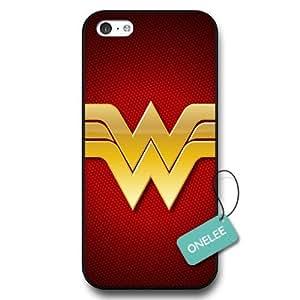 - Customize Cartoon Black Superwoman Wonder Woman iPhone 5C case - Black 6