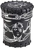 Q-Workshop Cyberpunk Black & Silver Leather Dice Cup