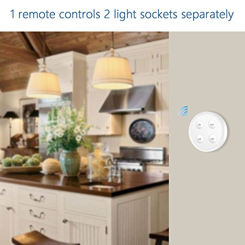 LoraTap Wireless Remote Control E26 E27 Light Socket Kit 656ft 915MHz Range On Off Switch for LED Bulbs and Fixtures, 5 Years Warranty (1pc Light Switch + 2pcs LED Lamp Holders) by LoraTap (Image #1)