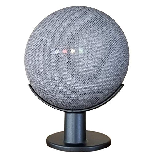 Price comparison product image Mount Genie Google Home Mini Pedestal: Improves Sound Visibility and Appearance - Cleanest Mount Holder Stand for Google Mini - Designed in USA (Charcoal)