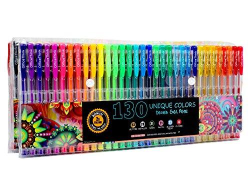 OfficeThink 130 Unique Gel Pens
