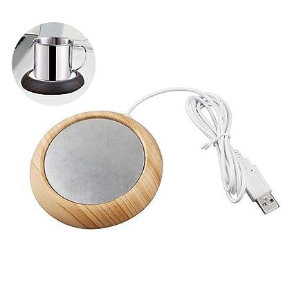 FOONEE - Calentador de café, Calentador USB para Bebidas, Placa de café para casa