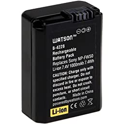 Watson NP-FW50 Lithium-Ion Battery Pack (7.4V, 1100mAh)