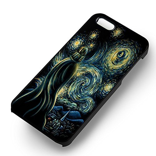 Starry Night Painting Art pour Coque Iphone 6 et Coque Iphone 6s Case (Noir Boîtier en plastique dur) C0H3BD