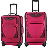 Protege 2-Piece Expandable Spinner Set Luggage Pink