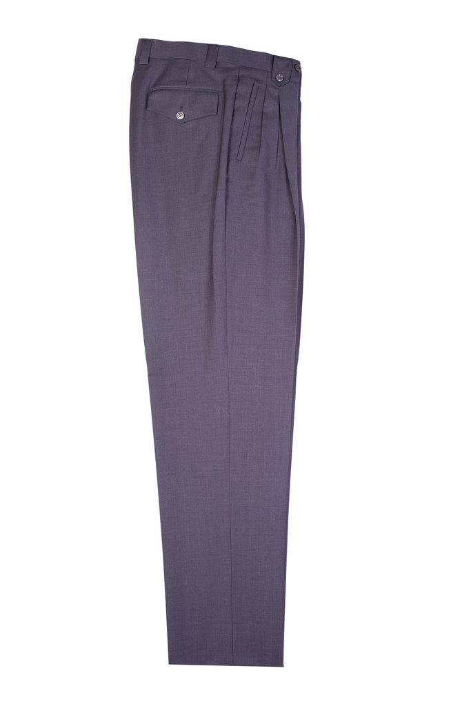 Tiglio Medium Gray Wide Leg, Pure Wool Dress Pants TIG1008