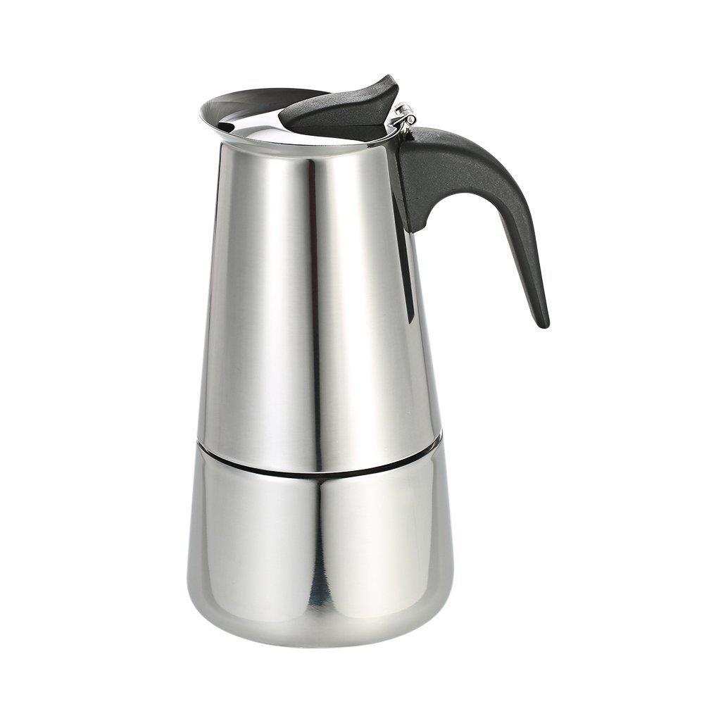 Decdeal - Cafetera para Inducción de Acero Inoxidable