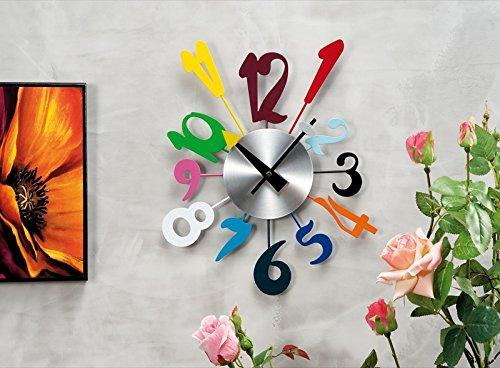 Orologio da parete mod. numeri colorati: Amazon.it: Casa e cucina