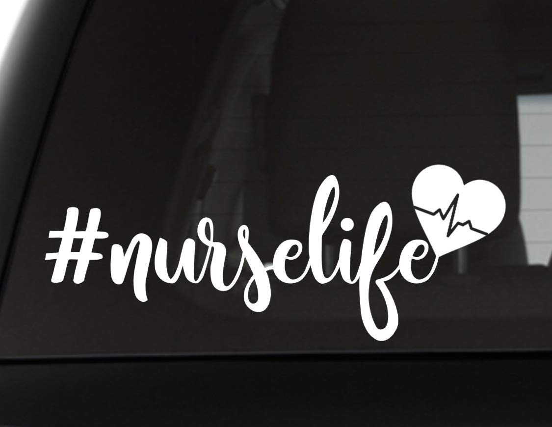 Nurse Life Vinyl Decal with Heartbeat