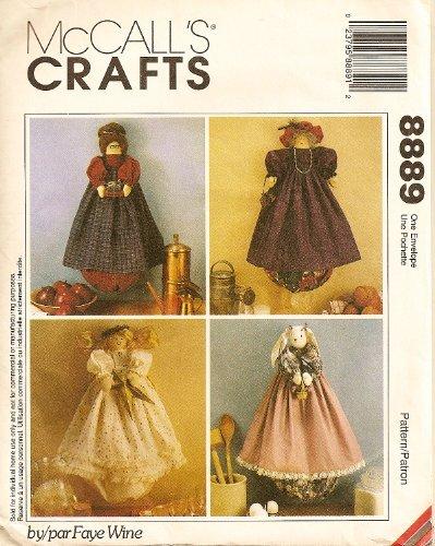 - McCalls Crafts 8889 Craft Pattern Plastic Bag Holders: Angel, Bunny, Teacher, Purple Lady