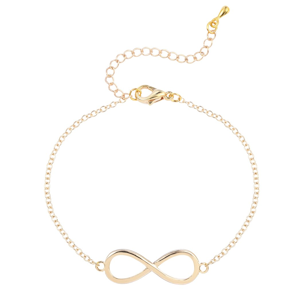 Contracted Infinity Bracelet Sideways Horizontal Digital 8 Tennis Bracelet for Women 0310QGP8528