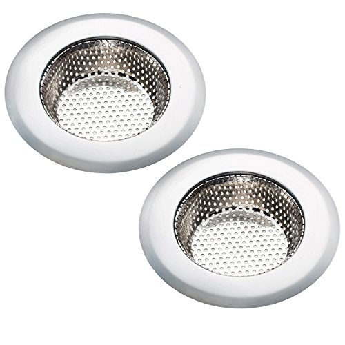 Kitchen Sink Strainer, Kitchen Sink Strainer Stopper, Heavy Duty Stainless Steel Kitchen Sink Basket Strainer, Perfect for Kitchen Sinks, Pack of 2