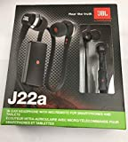 JBL J22a BLK High Performance In Ear Headphones with JBL Drivers and Microphone, Black (Discontinued by Manufacturer)