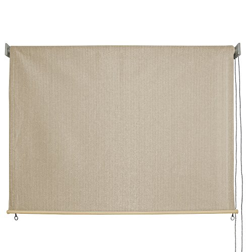 Outdoor Roller Sun Shade, 10-Feet by 6-Feet, Monterey