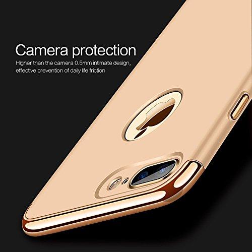 GR Ultra-dünne Drei-Stage-Spleißen Galvanische Seite Schutzhülle Rückseitige Abdeckung für IPhone 7 Plus ( Size : Ip7p3652rg )
