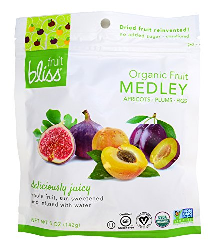 Fruit Bliss Organic Dried Fruit Medley, 5 oz, Pack of 6 by FRUIT BLISS