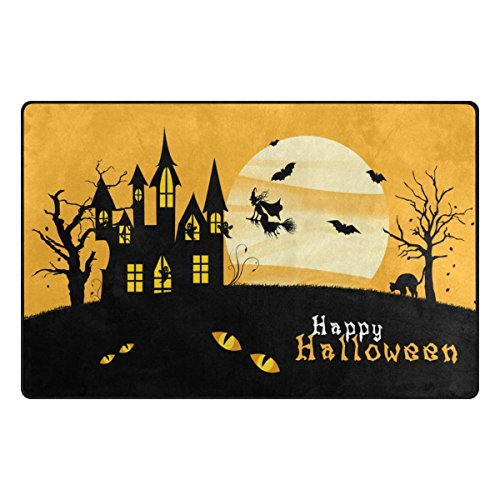 Doormat Front Door Mats Outdoor Inside Mats Personalized Welcome Mats with Painel Hallowen for Chair Mat,Decorative Floor Mat for Office and Home