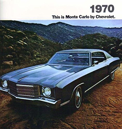 1970 Chevrolet Monte Carlo Sales Brochure 70 Includes FREE Decal (Repair Free Chevy Manual)