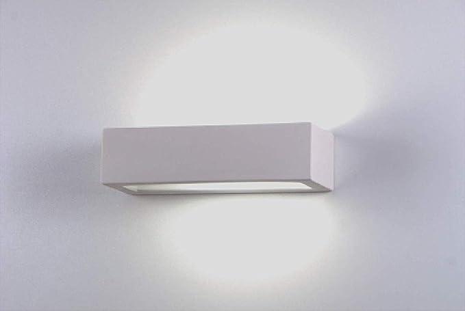 Applique rettangolare cm lampada da parete moderna ceramica