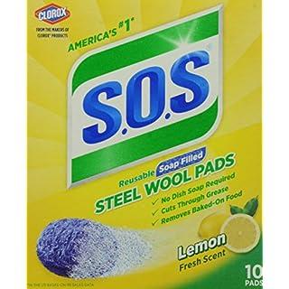 S.O.S. Steel Wool Soap Pads, Lemon Fresh, 10 Count