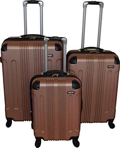 Kemyer 650 Lightweight 3-PC Expandable Hardside Spinner Luggage Spinner Set (Rose) by Kemyer
