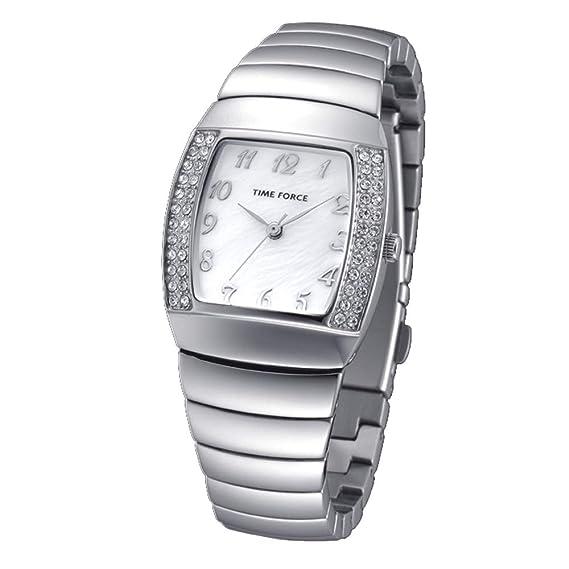 TIME FORCE Reloj Analógico para Mujer de Cuarzo con Correa en Acero Inoxidable TF-4095L02M: Amazon.es: Relojes