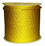 Rope King TP-141200Y Twisted Poly Rope - Yellow
