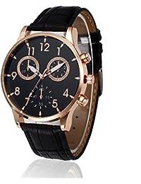 Wrist Watch, Man Fashion Watch Retro Leather Band Analog...
